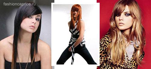 модные прически для длинных волос 2008-2009